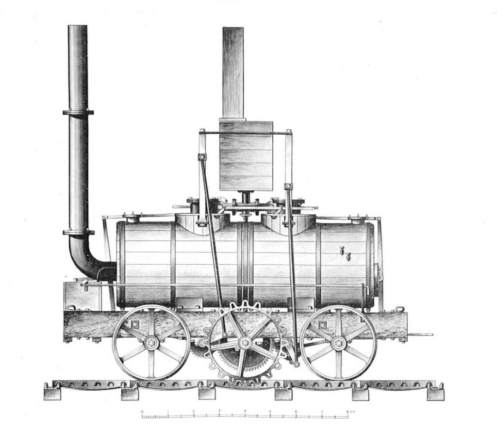 İlk Tren Lokomotifi