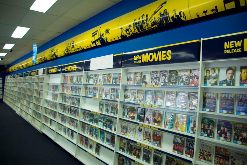Bir Blockbuster Dükkanının içi