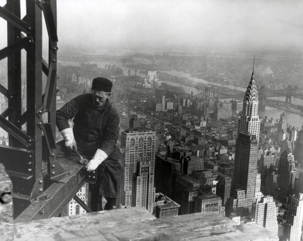 Empire State Binası İnşaatında Çalışan Bir İşçi