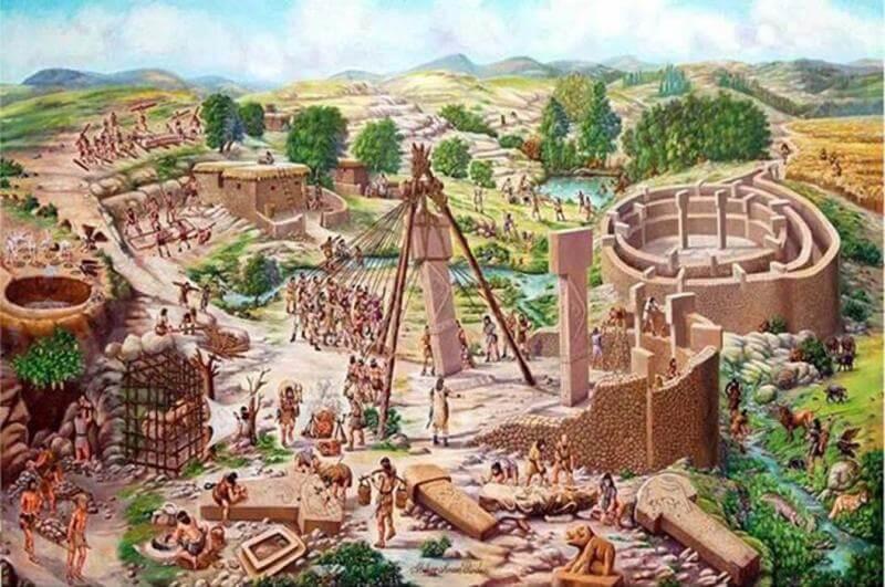 Göbekli Tepe'de Yaşamış İnsanların Tasviri