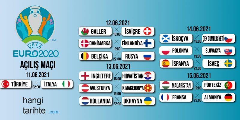 Euro 2020 Fikstürü
